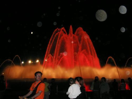 プラザ・エスパーニャの噴水ショー