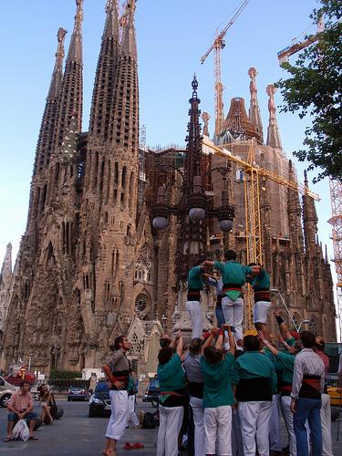 人間タワー!!カタルーニャのカステジェス