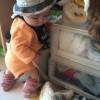 生後7カ月、つかまり立ちを覚えた