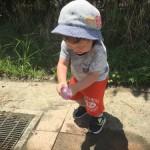 2歳児と真夏の外遊び